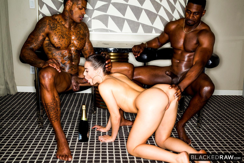 Lana rhoades blacked raw threesome