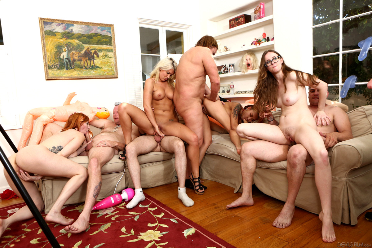 Very large group sex, young black gy lesbias