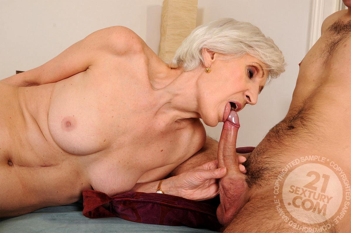 Grandmas first blowjob