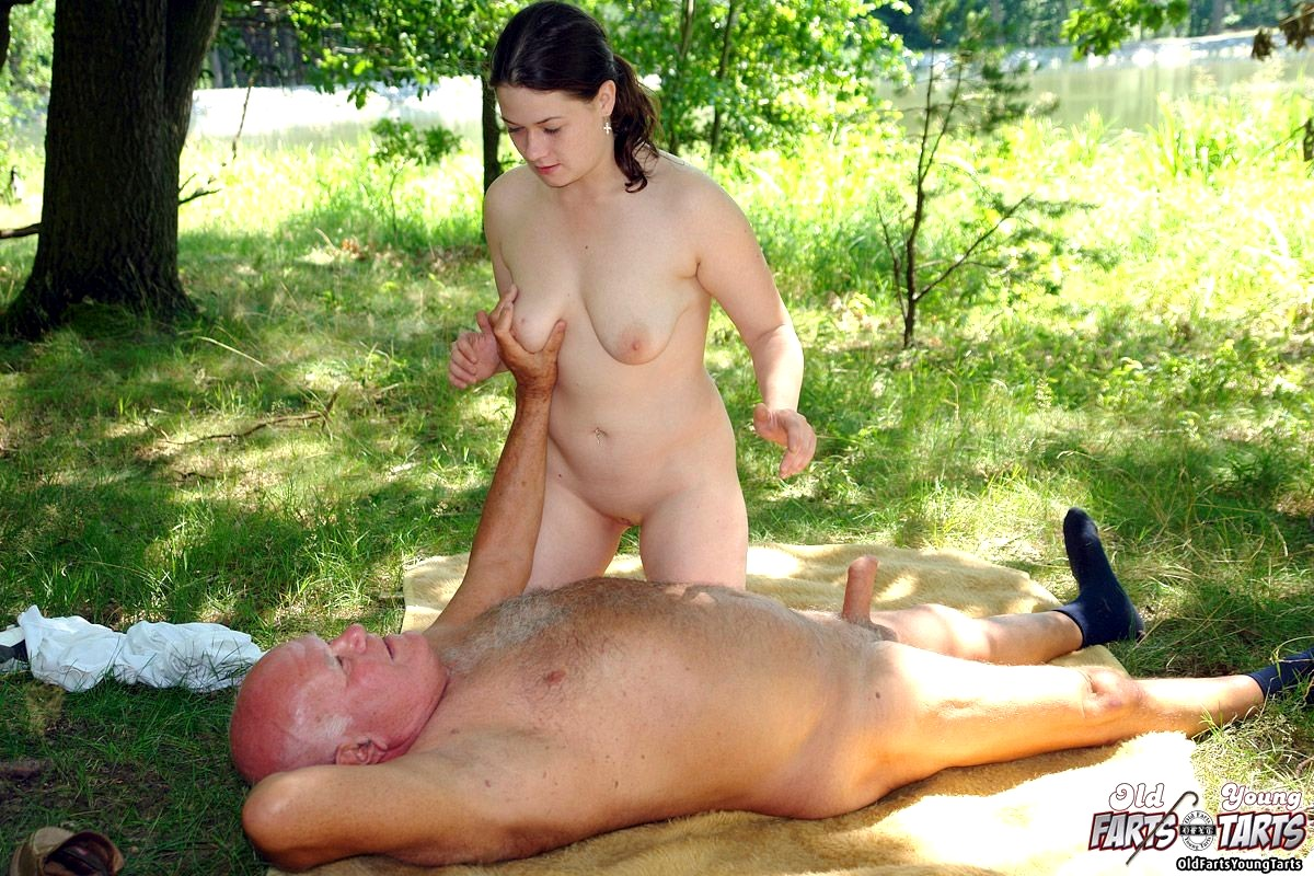 Old fuck the girl in garden would
