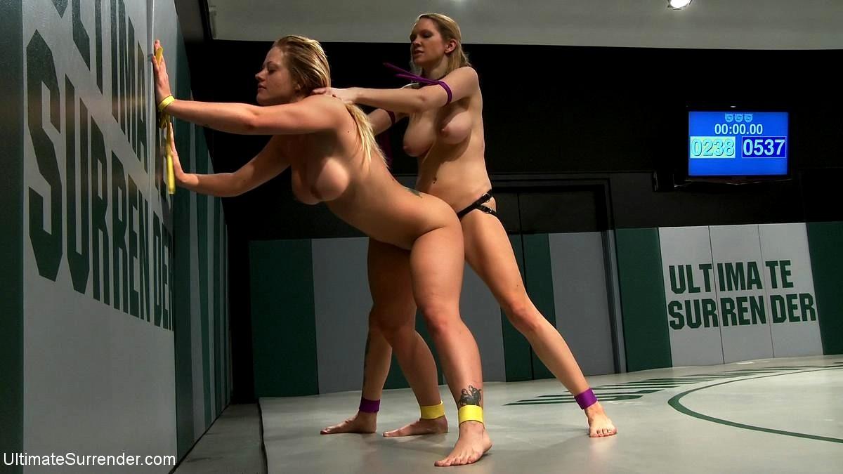 Women Wrestling Leather Lace